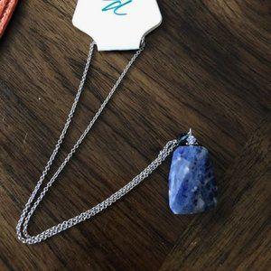 """Fashion Blue Stone Necklace 18"""""""